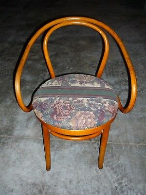 Vintage thonet MCM chair bentwood   pretzel chair