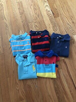 5 boys ralph lauren polo shirts Size 2/2T And 24 Months
