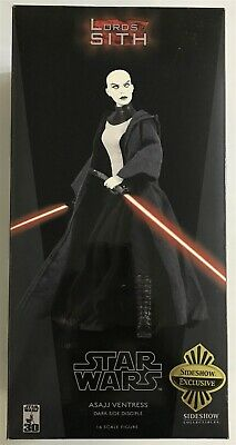"Sideshow Star Wars 12"" 1:6 Scale Action Figure Asajj Ventress Sith Disciple CIB"