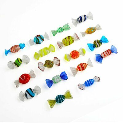18pcs Vintage Murano Glass Sweets Wedding Party Candy Ornaments Decorations Gift