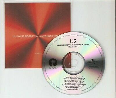 U2 'Love Is Bigger Than Anything In Its Way' Remixes Part 3 Brazilian Cd Promo