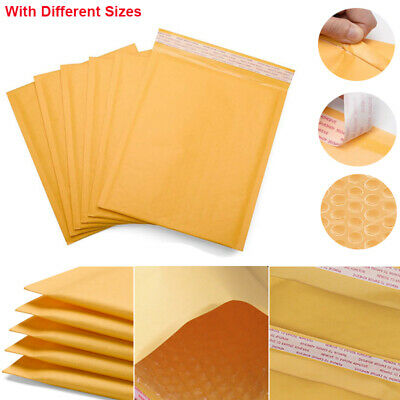 Kraft Bubble Mailers Padded Envelopes Protective Packaging Self Seal Bags Lot