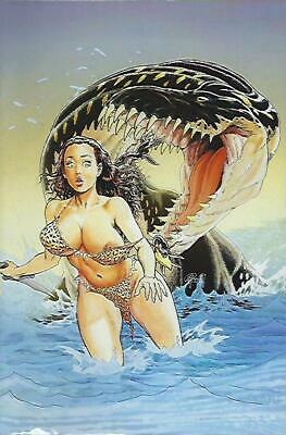 "Cavewoman : Riptide Budd Root Limited To 450 Virgin Cover ""C"" W/ Cert !!!  Nm"