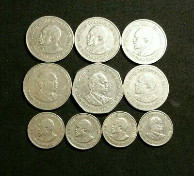 Mixed Lot of Circulated Coins from Kenya 1969 to 1985