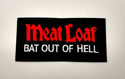 Meat Loaf Bat Out Of Hell Patch Sew Iron on Embroidered Music Free Shipping Cap