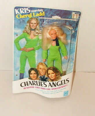 "% 1976 Hasbro Charlie's Angels Kris Cheryl Ladd  8"" Figre On Card"