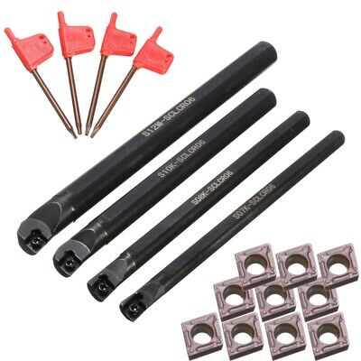 4 Set de 7/8/10 / 12Mm Sclcr Tour AléSage Bar Porte-Outils 10Pcs Ccmt 0602  P5H7