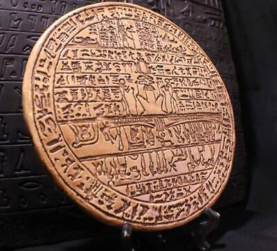 EGYPTIAN SOUL JOURNEY STAR MAP 26th Dynasty Hypocephalus Death Disc