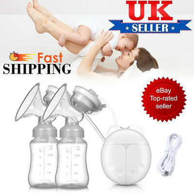 Electric Hand Free Double Breast Pump Automatic Intelligent Baby Feeder USB UK