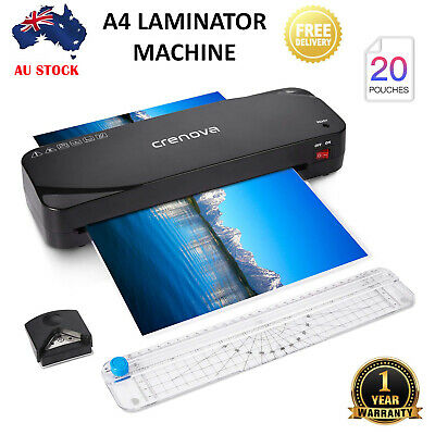 A4 Document Laminator with 20 Laminating Sleeves Home Office Laminater Machine