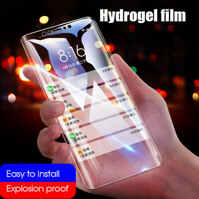Clear Soft Hydrogel Film For iPhone 7 8 Plus X XR XS MAX 9D Screen Protector AU