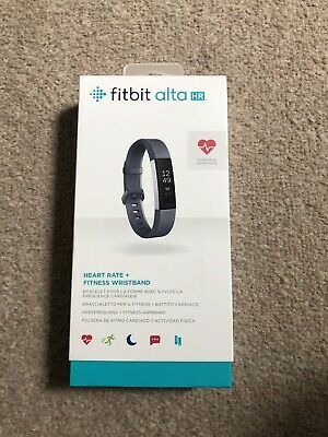 Fitbit Alta HR Blue Grey/Stainless Steel Activity Tracker - Small