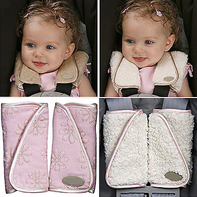 HB- CO_ 1 Pair Baby Car Seat Belt Strap Cover Pads Highchair Stroller Shoulder P