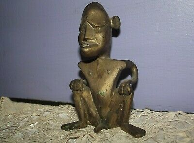 Old Antique Dayak Borneo Tribe Male Fertility Tribal  Phallic Statue Idol Figure