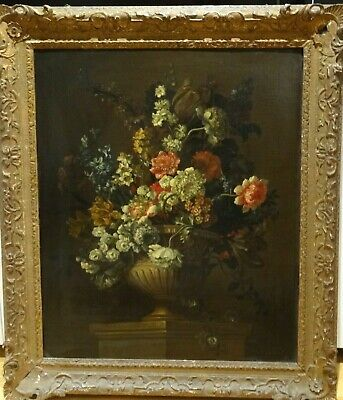 Large 18th Century Dutch Old Master Still Life Flowers Jean Baptiste MONNOYER