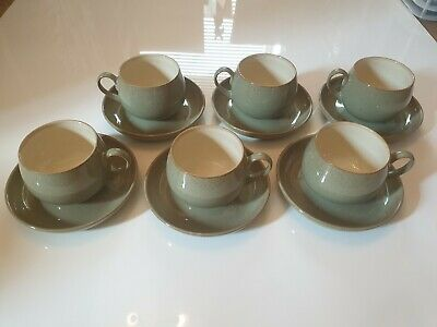 Denby Stoneware Camelot - 6x Cup And Saucer set