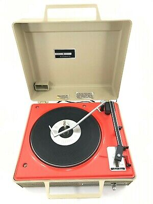 Vintage General Electric Automatic Portable Record Player GE V638H Turntable