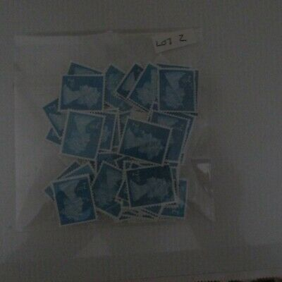 100 X 2nd Class Unfranked Security Stamps Off Paper No Gum Face Value £58+ Lot 2