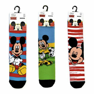 Boys Girls 3 Pack Disney Mickey Mouse Socks 3 Pairs 3 Sizes New