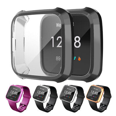 HB- Durable Frame Guard Screen Protector Smartwatch Cover for Fitbit Versa Lite