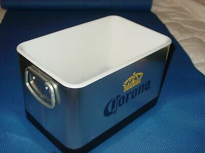 Corona Beer Mini Cooler Ice Bucket Stainless Steel Pool Bar Beach Party Man Cave