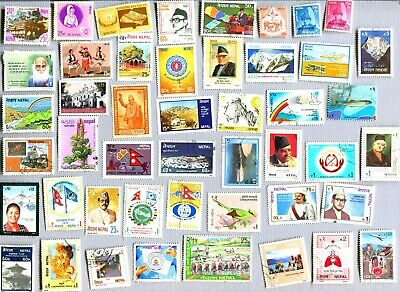 Large collection of stamps from Nepal.