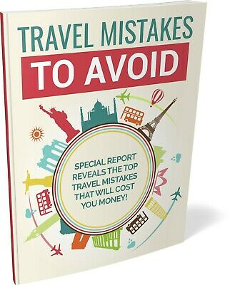 Travel Mistakes To Avoid eBook PDF with Full Master Resell Rights