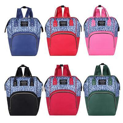 Plant Print Mommy Travel Backpacks Large Maternity Nappy Top-handle Bags WT7n