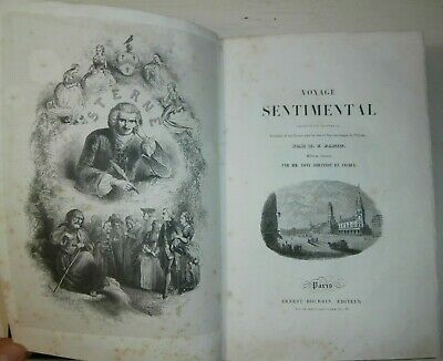 Raro Introvabile antico libro Voyage sentimental Laurence Stern Illustrato 1841
