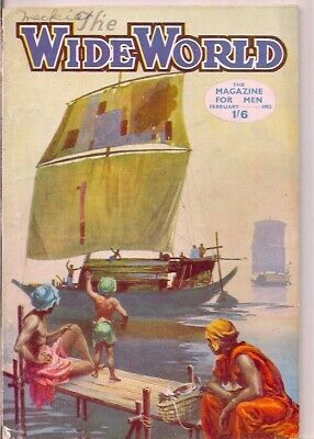 THE WIDE WORLD-the magazine for men-FEB 1952-PRIMITIVE COASTING CRAFT,BENGAL.