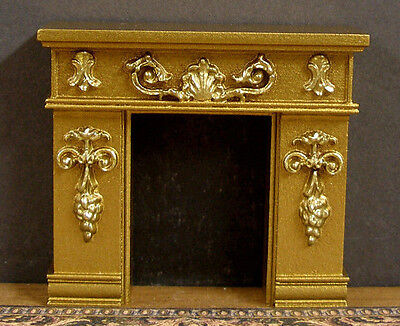 """HALF  SCALE ~  1/2""""  scale ~ FIREPLACE ~ Dollhouse ~ ROOM  BOX ~ 1/24 scale"""
