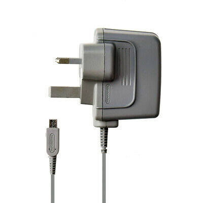 CHARGER OFFICIAL GENUINE NINTENDO 3DS 2DS DSi & XL POWER ADAPTER UK 3 PIN PLUG
