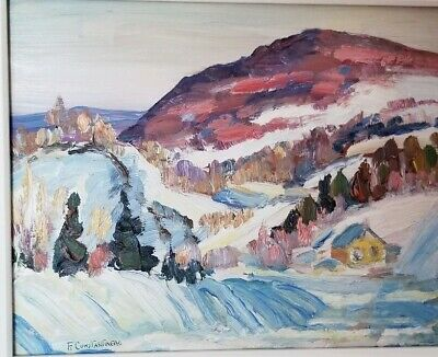 Vintage Canadian Painting Signed Listed Canadian Artist #2