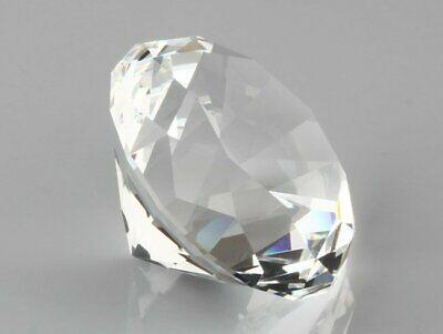40mm Crystal Clear Paperweight Cut Glass Giant Diamond Jewel Decoration Gifts