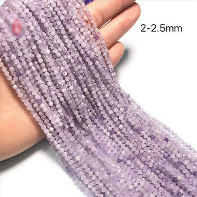 1pcs Amethyst Faceted Loose Bead Spacer Wholesale Lots Round Jewelry Makings