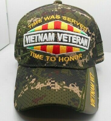 VIETNAM VETERAN TIME WAS SERVED TIME TO HONOR with SCRAMBLED EGGS Ball Cap