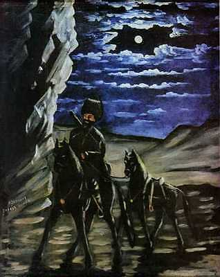 """perfact oil painting handpainted on canvas """"A Robber with a Stolen Horse"""" NO3540"""