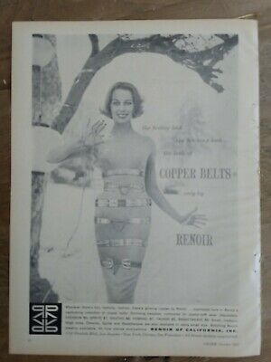 1957 Renoir of California womens copper belts jewelry vintage ad