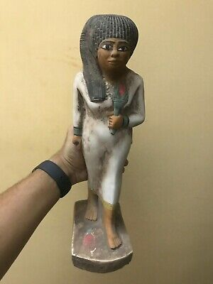 EGYPT EGYPTIAN Large STATUE Antique QUEEN Nakhtmin GODDESS Carved Stone BCE