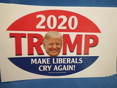 WHOLESALE LOT OF 20 TRUMP 2020 MAKE LIBERALS CRY AGAIN STICKERS america great