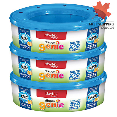 NEW 🇨🇦 Playtex Diaper Genie Refill 270 Count Pack of 3 🇨🇦 FAST & FREE