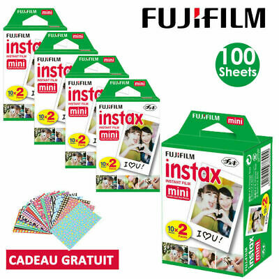 100pcs fujifilm instax white film for fuji instant mini 7s 8 9 70 90 camera sp2
