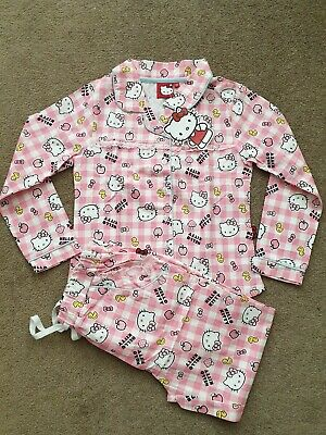 Kids Girls Hello Kitty Pyjamas Size 5-6 years