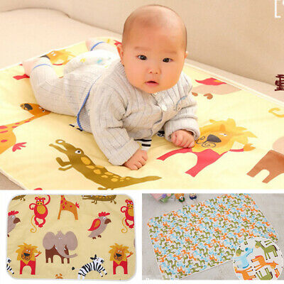 Baby Infant Diaper Nappy Urine Mat Kids Waterproof Bedding Changing Cover Pad 66