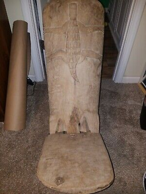 African Hand Carved Wooden chair