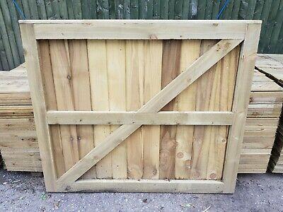"Super Heavy Duty Fully Framed Pressure Treated Garden Side Gate 41.5"" X 4'"