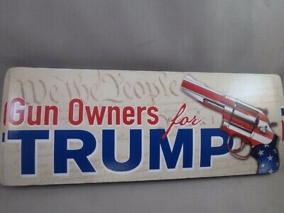 WHOLESALE LOT OF 10 GUN OWNERS FOR TRUMP MAGNET bumper sticker We The People '16