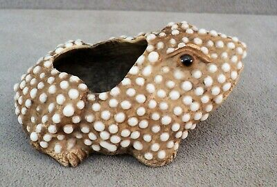 Antique POTTERY FROG Figural CALLIGRAPHY BRUSH Pot WATER DROPPER Chinese -Estate