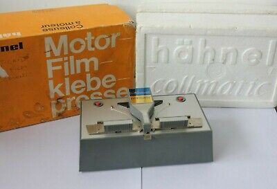 HAHNEL COLLMATIC MOTORISED FILM SPLICER 8mm & Super 8mm Tested Working