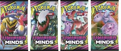 Pokemon Unified Minds Sealed Booster Pack x 10